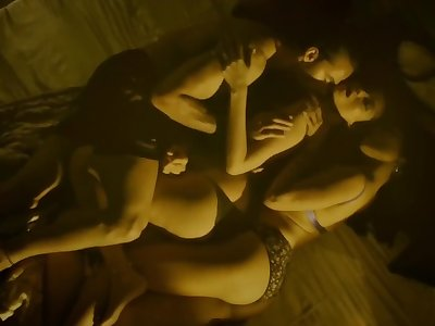 Indian Actress Anangsha Biswas & Priyanka Bose 3Some Sex Scene