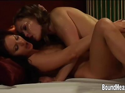 Golden Strapon For Naughty Lesbian Mistress