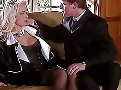 Silvia Saint Fucks get under one's Lawyer and Drains His Spunk