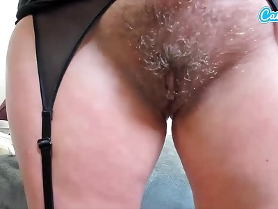 CAMSODA - GIANNA MICHAEL'S HAIRY Vulva SHAVE LIVE, BIG BOOBS AND BABY OIL