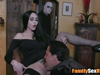 Adam's family taboo orgy - mom daddy fuck son and daughter parody