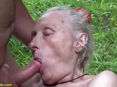 extreme ugly 86 years older mom first-ever cruel public fuck