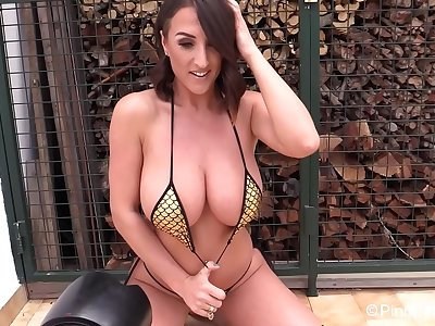 Stacey Poole: Spider Web Bathing suit (but it's fish scales right?) (Pinup Files Image Shoot - Part 1)