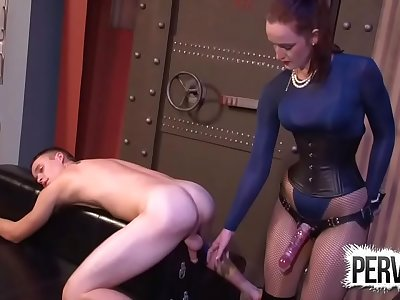 English Stepmom Keeps Stepson in Dungeon to Fuck His Ass