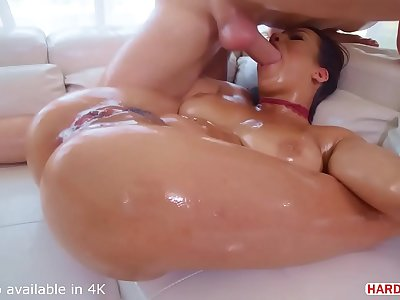 Horny Dark haired Autumn Falls Fucked Senseless While Drizzling