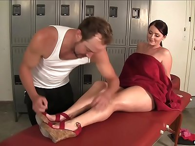 Sophie Dee Gets A Deep Dick Massage In The Locker Room