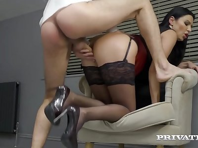 Private.com - Big Titty Mature Muff Ania Kinski Fucks Cock!