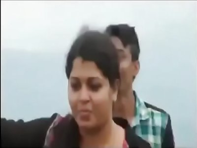 Kerala Malayalam 25 yrs old unmarried, torrid and sexy women college professor smoking ciggie and groped by her guy students at Ponmudi hill viral sex video - 2016, April 12th.