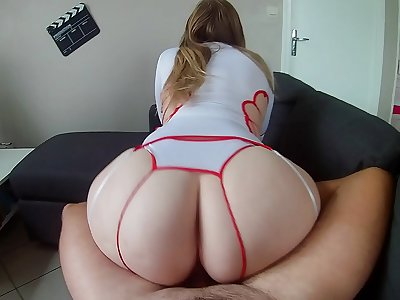 PAWG Nini the nurse poking with patient ! She's highly warm with her big ass !