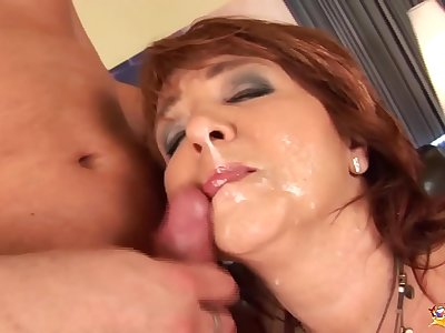 redhead bodacious mom first time anal sex
