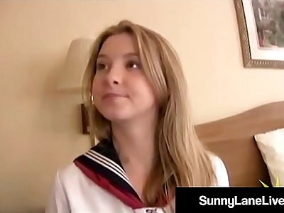Stiff Asian Noodle Bangs US School Girl Sunny Lane!